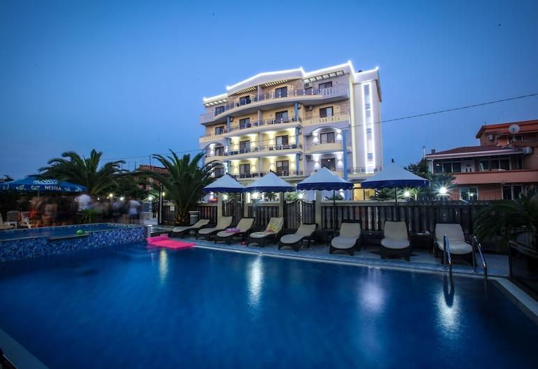 Hotel Montefila, Ulcinj, Façade de l'hôtel - Soir/Nuit