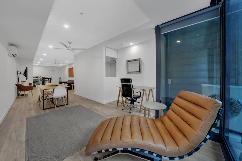 Căn hộ Deluxe, 2 phòng ngủ, Quang cảnh thành phố - Khu phòng khách