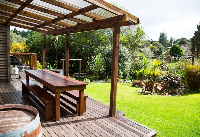 Hush Boutique Accommodation, Coromandel, Maison, 3 chambres (Hush House), Terrasse/Patio