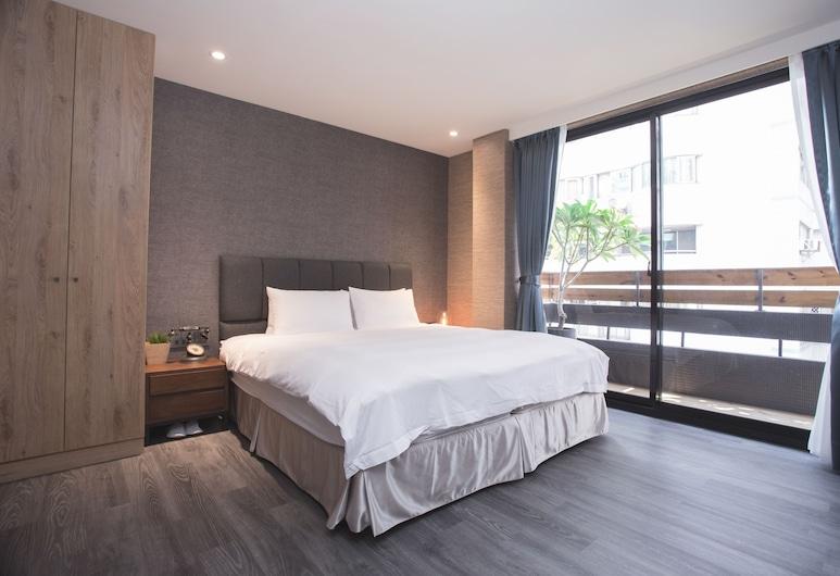 玫瑰精品旅館雙城館, 台北市, 豪華雙人房, 1 張加大雙人床, 客房
