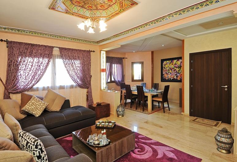 Aparthotel Les Oliviers Suites & Spa, Fes, Luksuzni apartman, 2 spavaće sobe, Dnevna soba