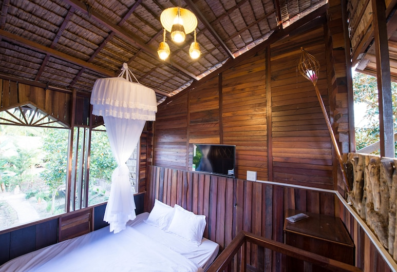 Mekong Rustic Can Tho, Can Tho, Familie bungalow, 2 queensize bedden, Kamer