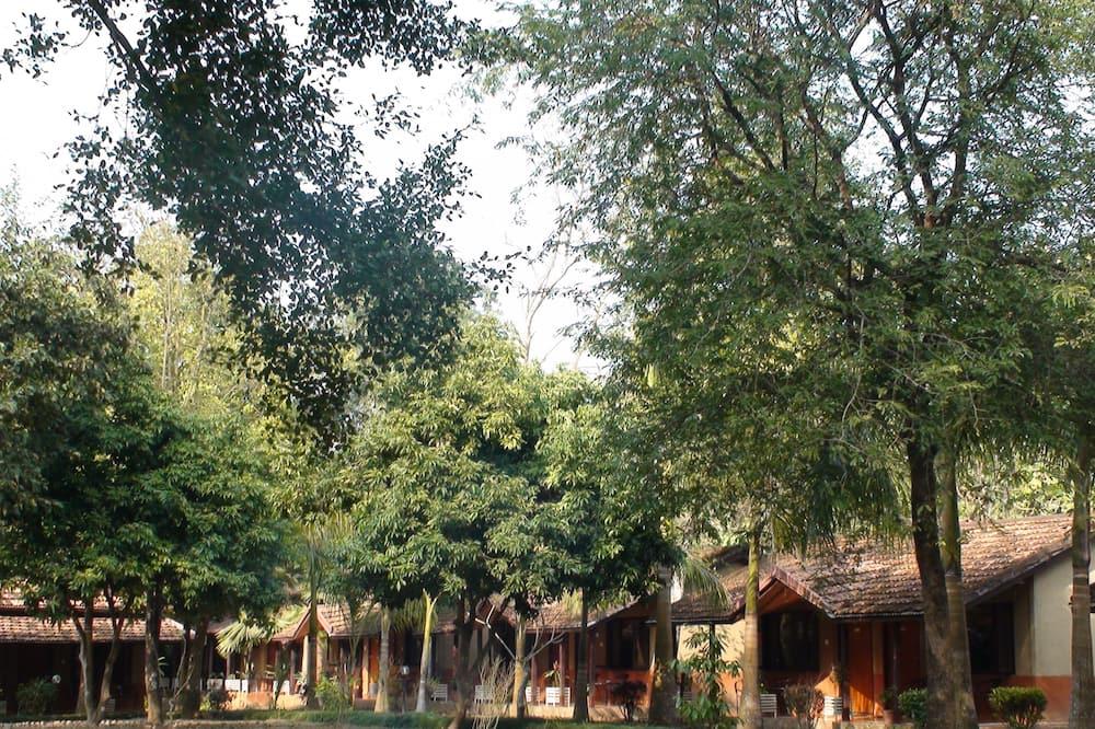 Zimmer - Blick auf den Garten