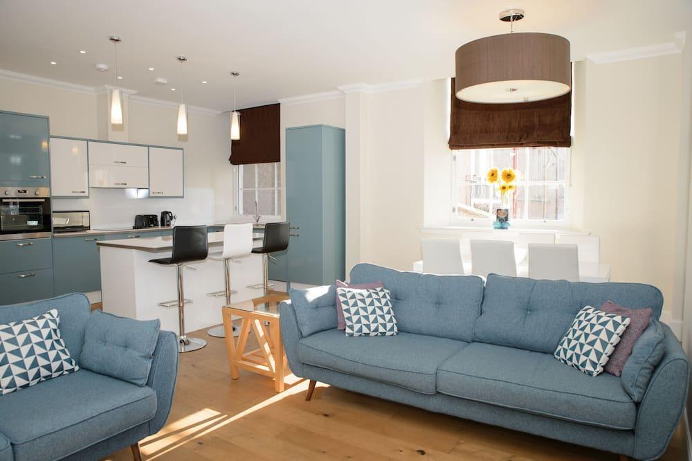 Departamento de lujo, 2 habitaciones, vista a la ciudad, planta baja - Sala de estar