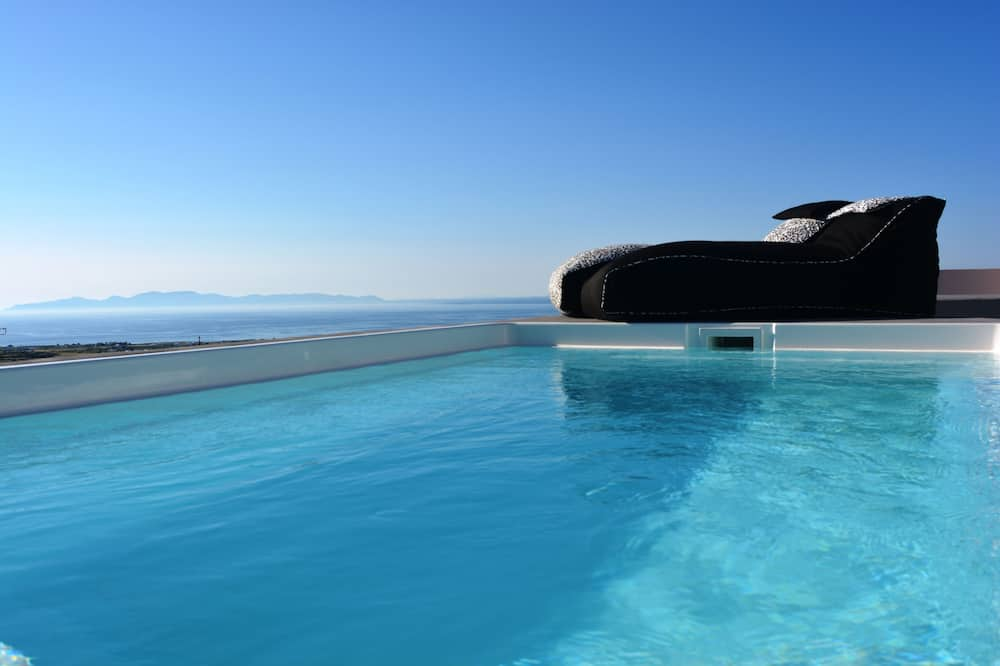 Villa Lune de Miel, 2 chambres, piscine privée, vue mer - Terrasse/Patio