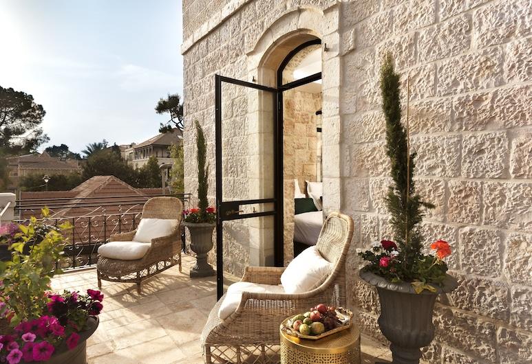 Villa Brown Jerusalem, Jerusalén, Habitación Deluxe, terraza, vista al jardín, Balcón