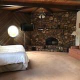 Suite, 1King-Bett, Kamin - Zimmer
