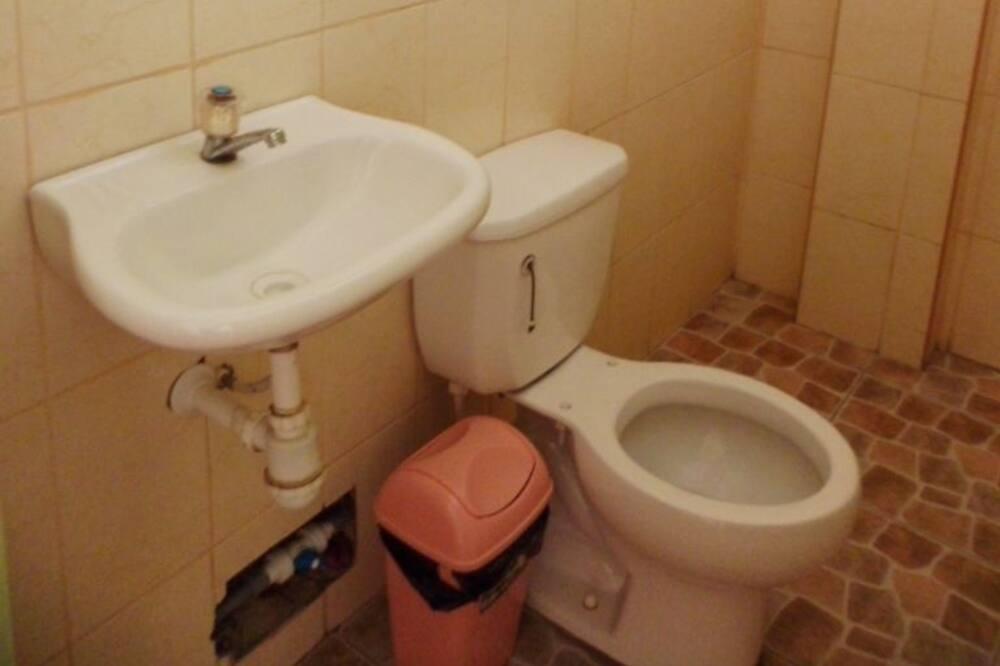 Jednolůžkový pokoj typu Basic, výhled na město - Koupelna