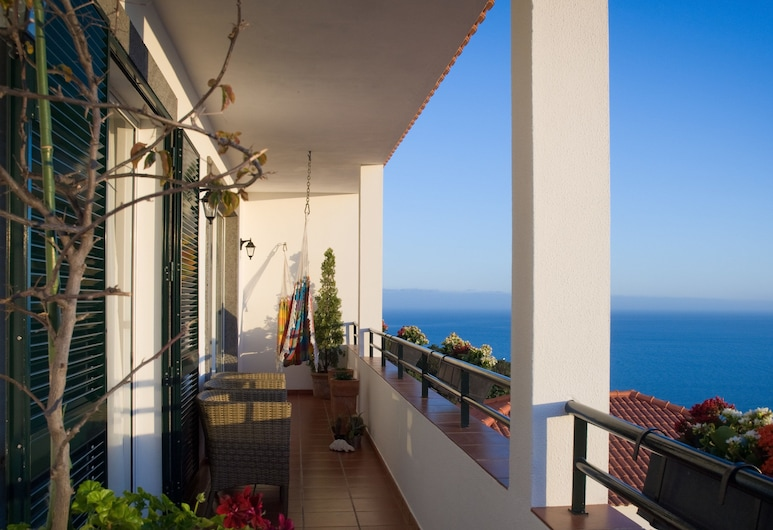 Murteiras Apartment, Funchal, Panorama-lejlighed - 2 soveværelser - balkon - havudsigt, Terrasse/patio