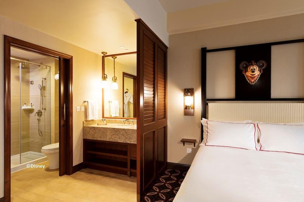 Deluxe szoba, kilátással a kertre - Fürdőszoba