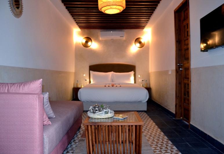 Riad Dar Dar, Рабат, Улучшенный двухместный номер с 1 двуспальной кроватью, Номер