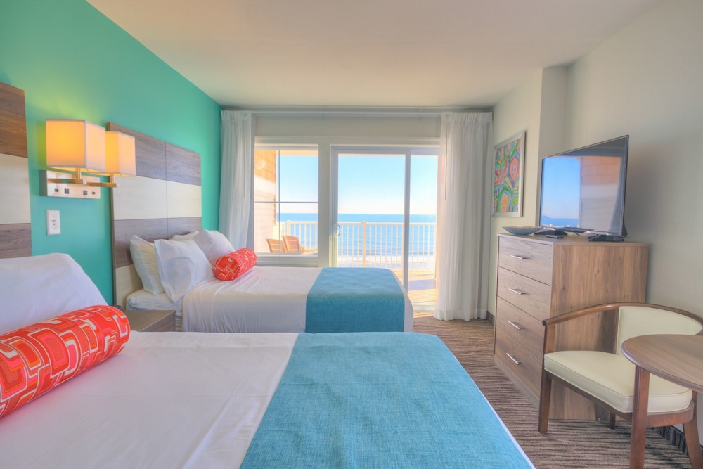 colorful resort suite with ocean view