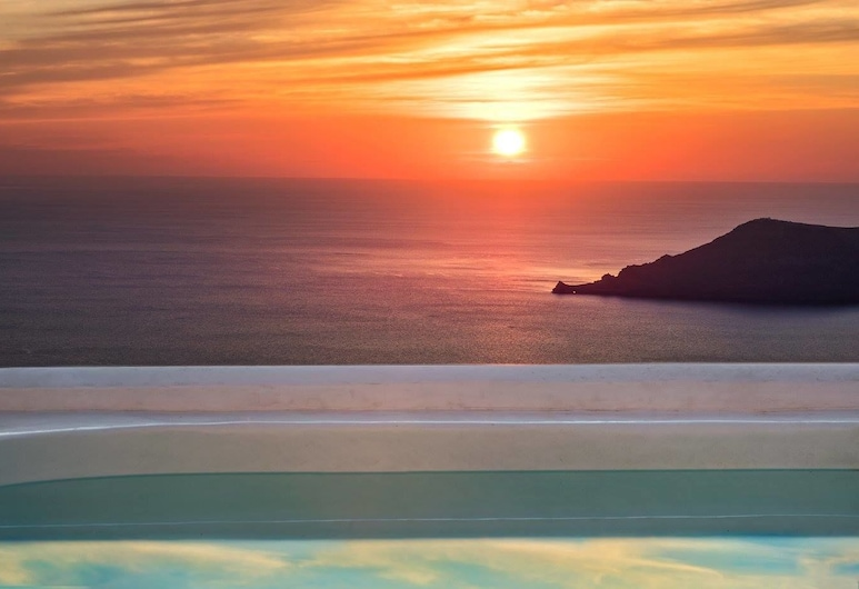 Saint George Exclusive, Santorini, Exclusive Villa, 2 Bedrooms, Jetted Tub, Sea View, View from room