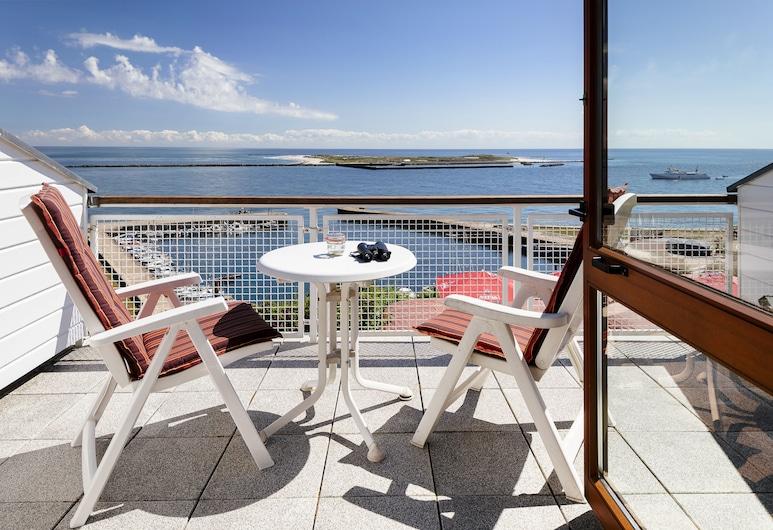 Hotel Rooad Weeter, Helgoland, Deluxe tweepersoonskamer, Balkon, Uitzicht op zee, Balkon