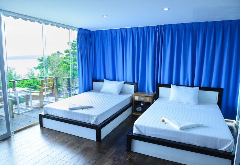 Koh Rong Ocean View Bungalows, Koh Rong, Twin Room, 2 Single Bed, Non Smoking, Sea View, Guest Room