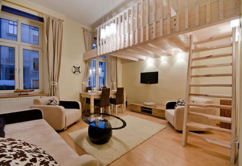 Imperial Apartments - Bryza, Sopot, Apartmán, 1 spálňa, Obývačka