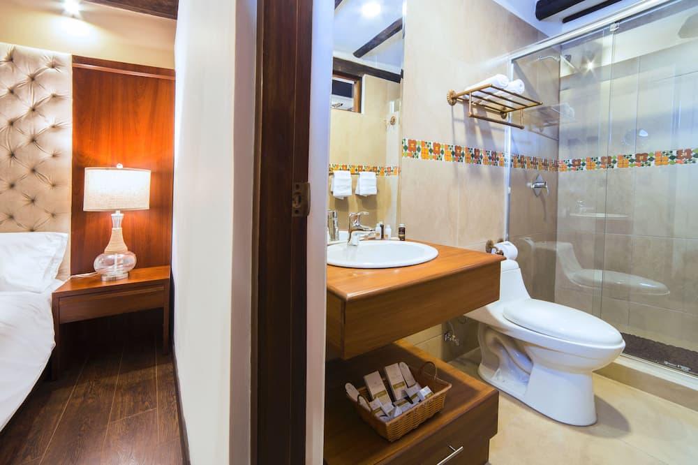 Værelse med 2 enkeltsenge - 1 soveværelse - handicapvenligt - privat badeværelse - Badeværelse
