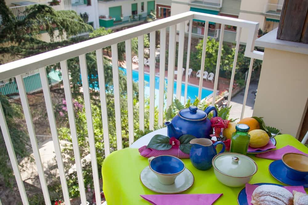 Apartamentai, 3 miegamieji, balkonas - Balkonas