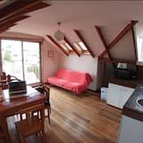 Panoramic-Apartment, 1 Schlafzimmer, Terrasse, Meerblick (OXF7) - Wohnbereich
