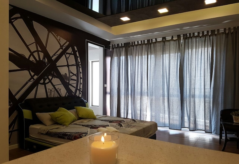 Dream to the Sea Suites, Ashkelon, Deluxe Loft, Ocean View, Living Room