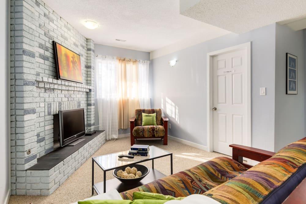 Departamento, 4 habitaciones, chimenea - Sala de estar