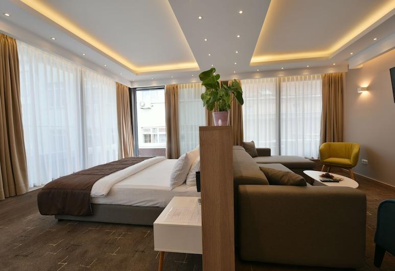هوتل سيتي وان داياموند, سراييفو, جناح عائلي - سرير ملكي مع أريكة سرير - تجهيزات لذوي الاحتياجات الخاصة, غرفة نزلاء
