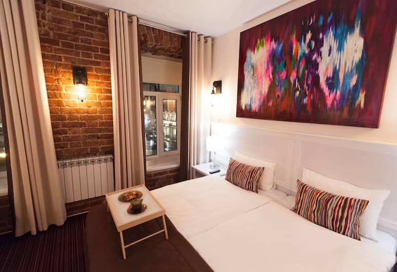 Apart-Hotel Naumov Sretenka, Moskwa, Apartament typu Comfort, kuchnia, Pokój