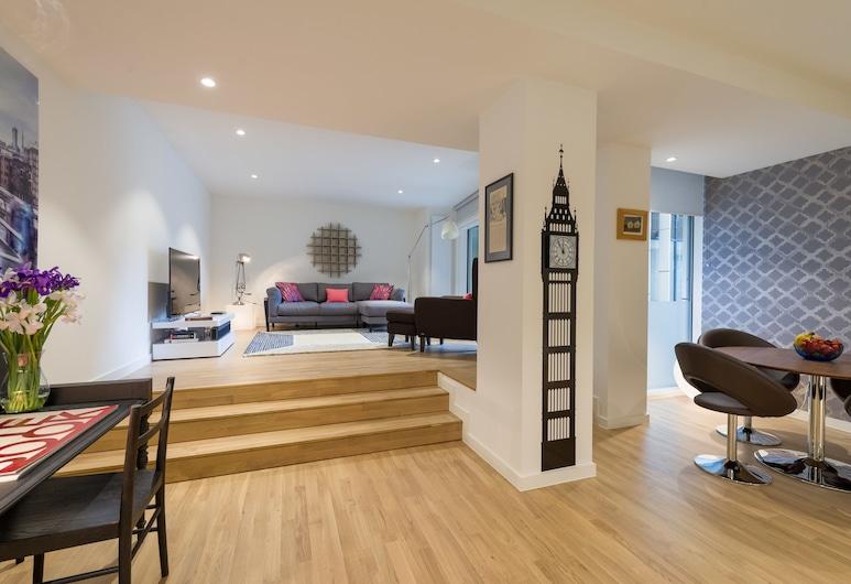 Star Yard By Merino, London, Design-Apartment (Eye of London), Essbereich im Zimmer