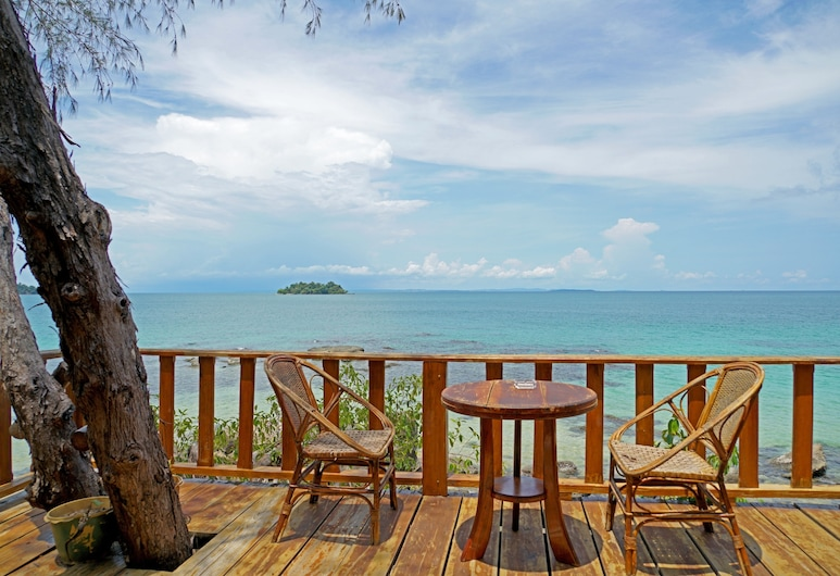 Tree House Bungalows Resort, Koh Rong, Blick vom Hotel