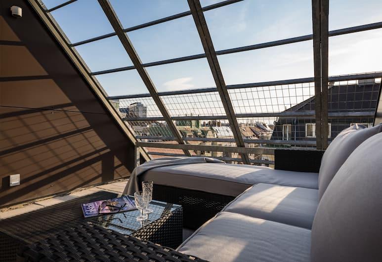 Rafael Kaiser - Business Apartments, Beč, Deluxe penthouse, 1 spavaća soba, terasa (incl. 29€ cleaning fee), Terasa/trijem