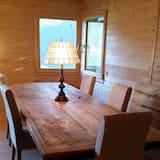 Faház, több hálószobával, erkély (3 Bathrooms) - Étkezés a szobában