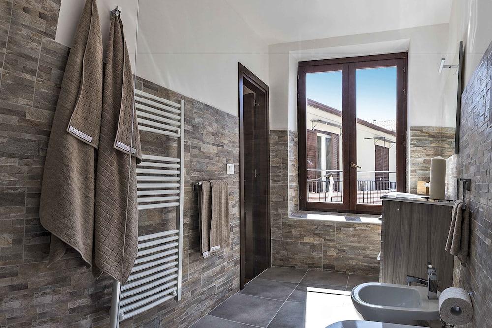 Deluxe-Doppelzimmer (Quattro Canti) - Badezimmer