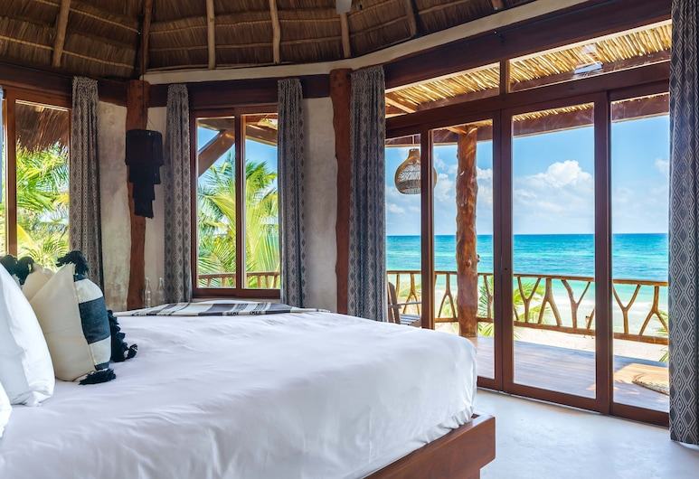 Casa Ganesh Tulum, Tulum, Oceanfront House Casa Ganesh upto 8 people included in the rate, Chambre