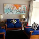 Apartamento Familiar, 2 Quartos, Vista Piscina - Sala de Estar