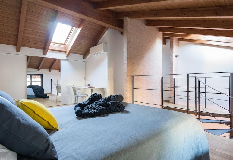 Home At Hotel - Ampola, Milano, Çatı Katı (Loft), Oda