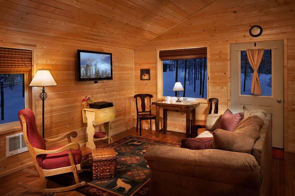 Baita, 2 camere da letto, cucina, vista montagna - Area soggiorno