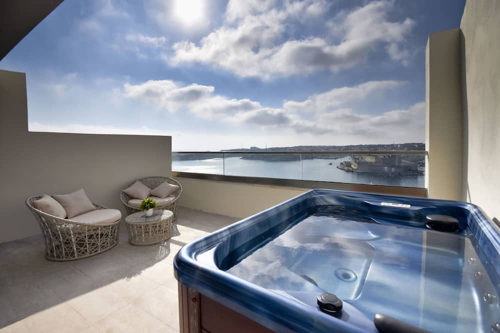 Habitación panorámica con 1 cama doble o 2 individuales, vistas al mar - Balcón