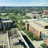 Вид на город из объекта