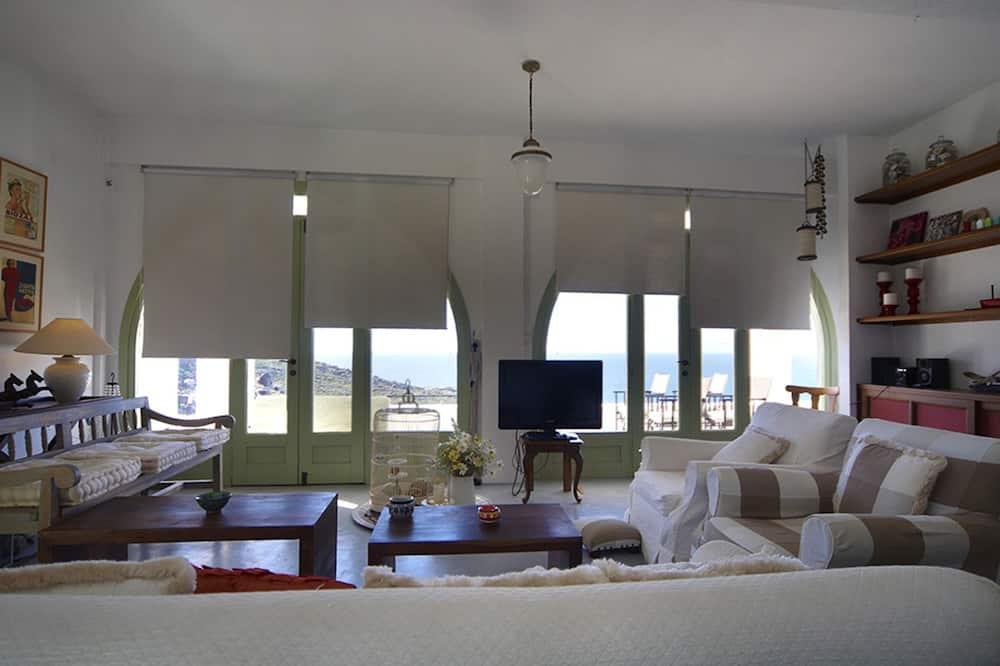 Villa, četras guļamistabas, skats uz jūru - Dzīvojamā istaba