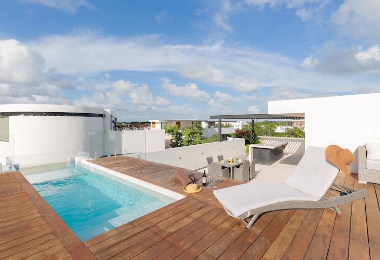 Central Park Resort & Spa Tulum, Tulum, Penthouse Panoramique, 3 chambres, piscine privée, Terrasse/Patio