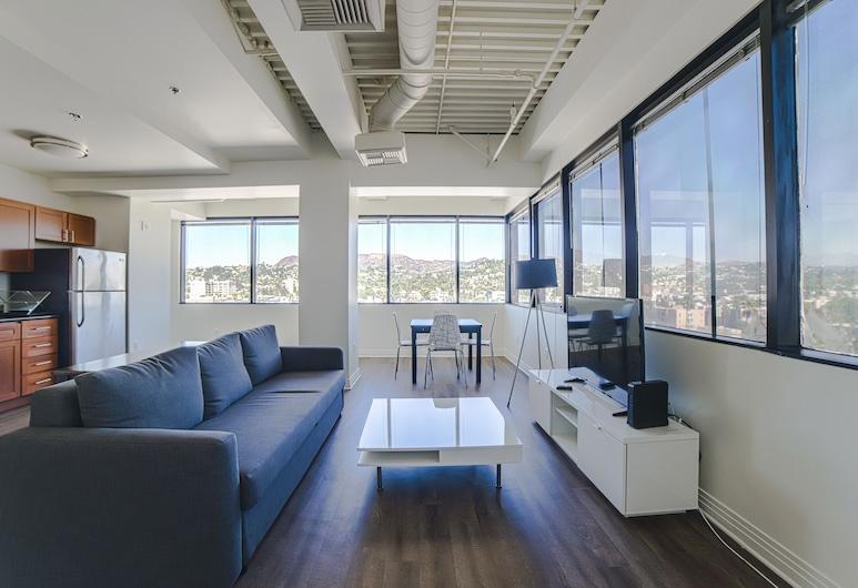 Ginosi Metropolitan Apartel, Los Angeles, Superior Apart Daire, Oturma Alanı