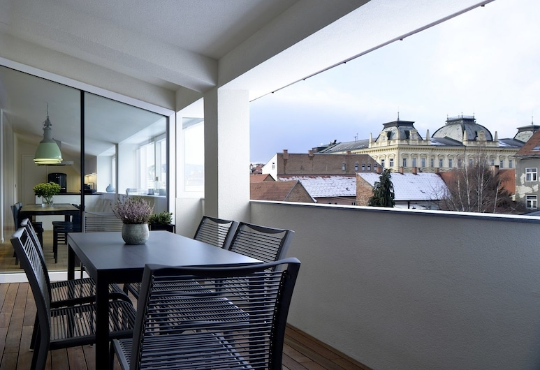Hotel Maribor, City apartments, Maribor, Huoneisto, 3 makuuhuonetta, Terassi/patio