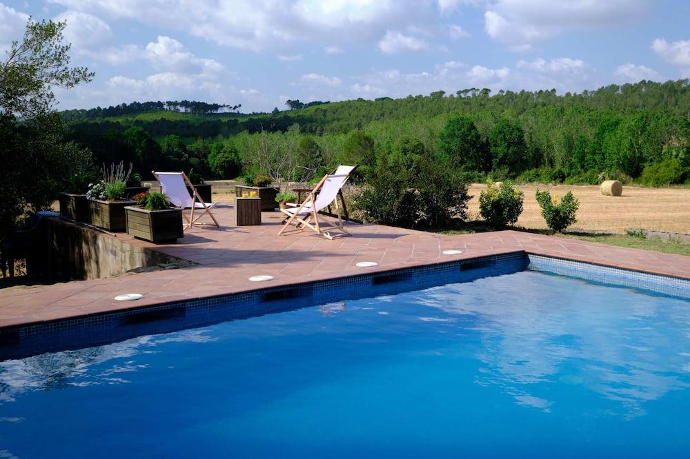 Chambre Quadruple Familiale, plusieurs lits, accès piscine - Chambre
