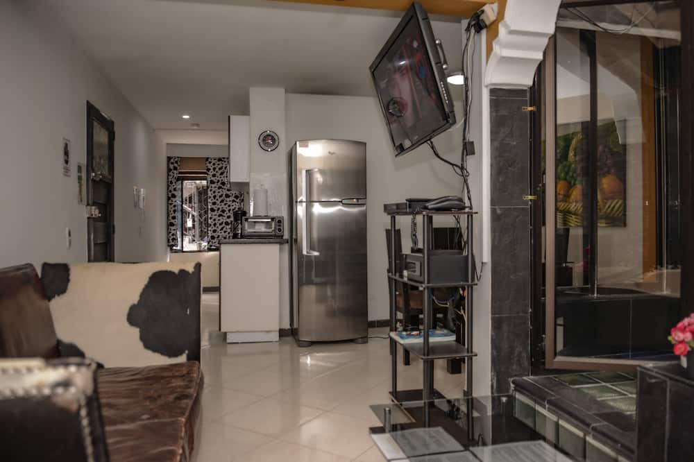 Executive appartement, 1 slaapkamer (101) - Woonruimte