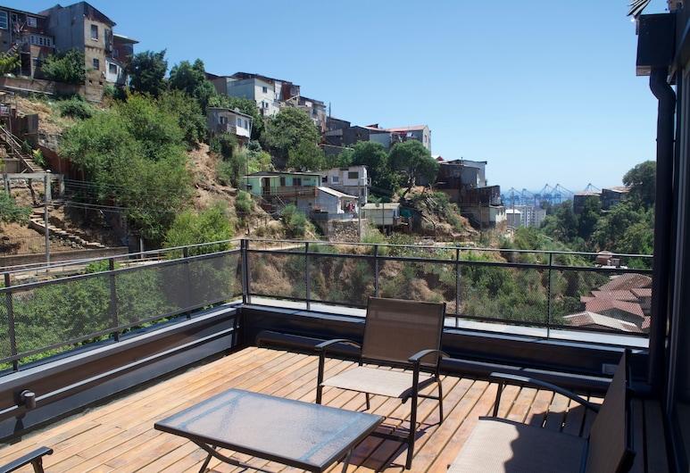 Lofts Vistalegre Cerro Alegre, Valparaíso, Estudio Deluxe, balcón, vista al mar (B15), Terraza o patio