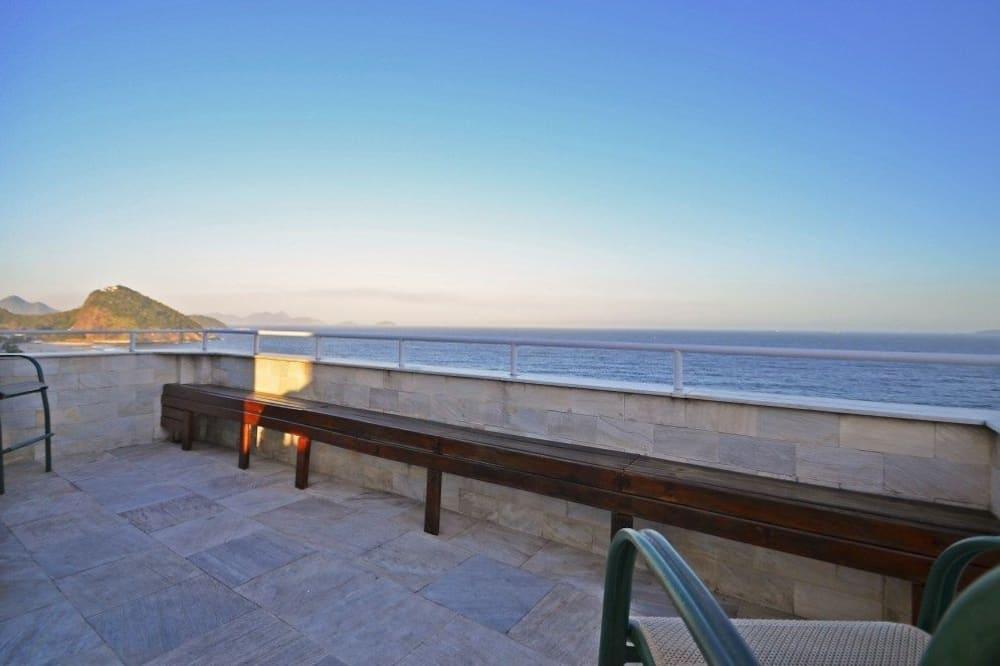 Panoramic Çatı Katı Süiti (Penthouse), 2 Yatak Odası, Plaj Manzaralı, Denize sıfır - Balkon