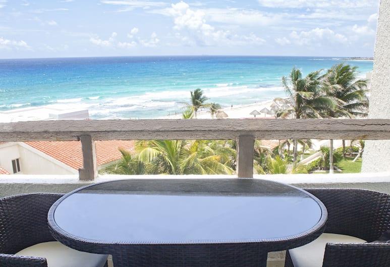 索利馬羅德洛酒店區海灘公寓式客房酒店, 坎昆, 3603: Junior Suite, Multiple Beds, Sea View, Oceanfront , 露台