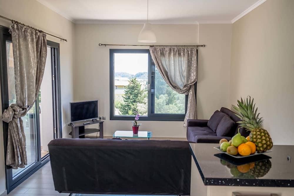 شقة ديلوكس - غرفة معيشة