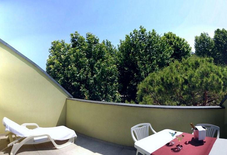 Residence Bright Star, San Michele al Tagliamento, Külaliskorter, 1 magamistoaga (4 PAX), Terrass