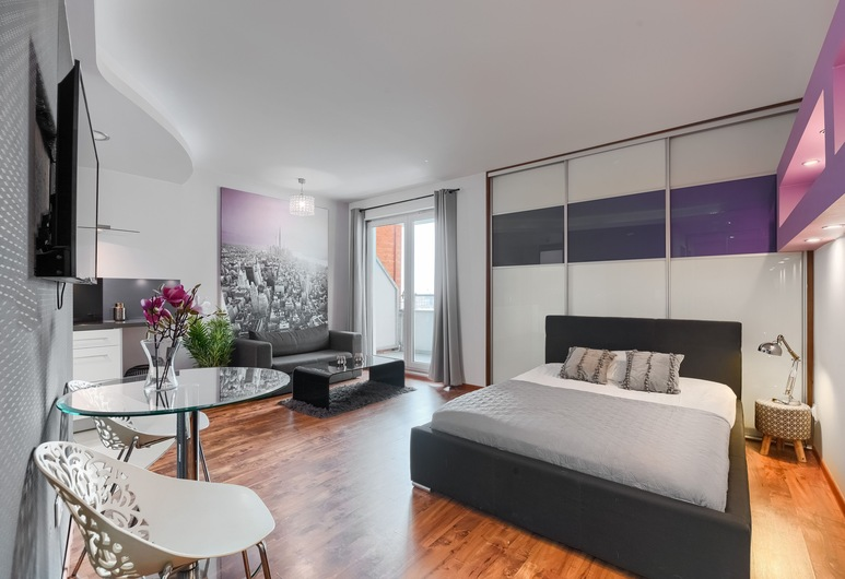 Exclusive Nautica Apartments, สเกซซีน, สตูดิโอ, วิวเมือง (Bandurskiego 95 Street), ห้องพัก